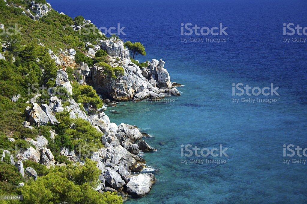 coast with rocks royalty-free stock photo