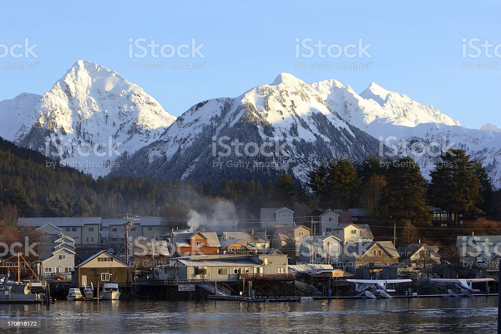 Coastal Alaska stock photo