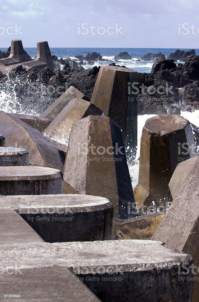 Coastal Barriers stock photo