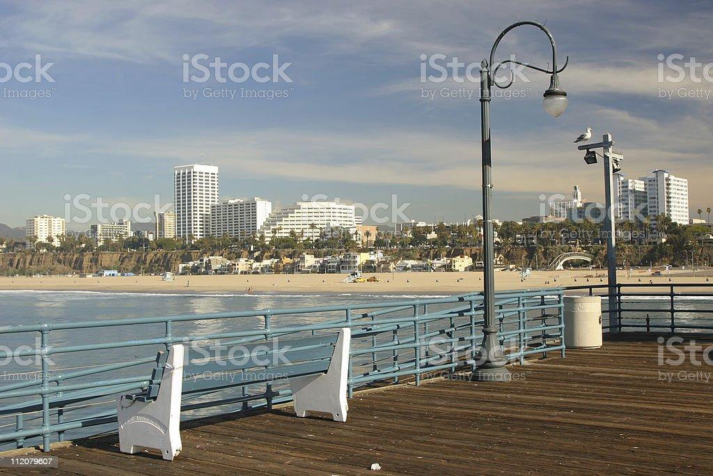 Coastal Beach Town royalty-free stock photo