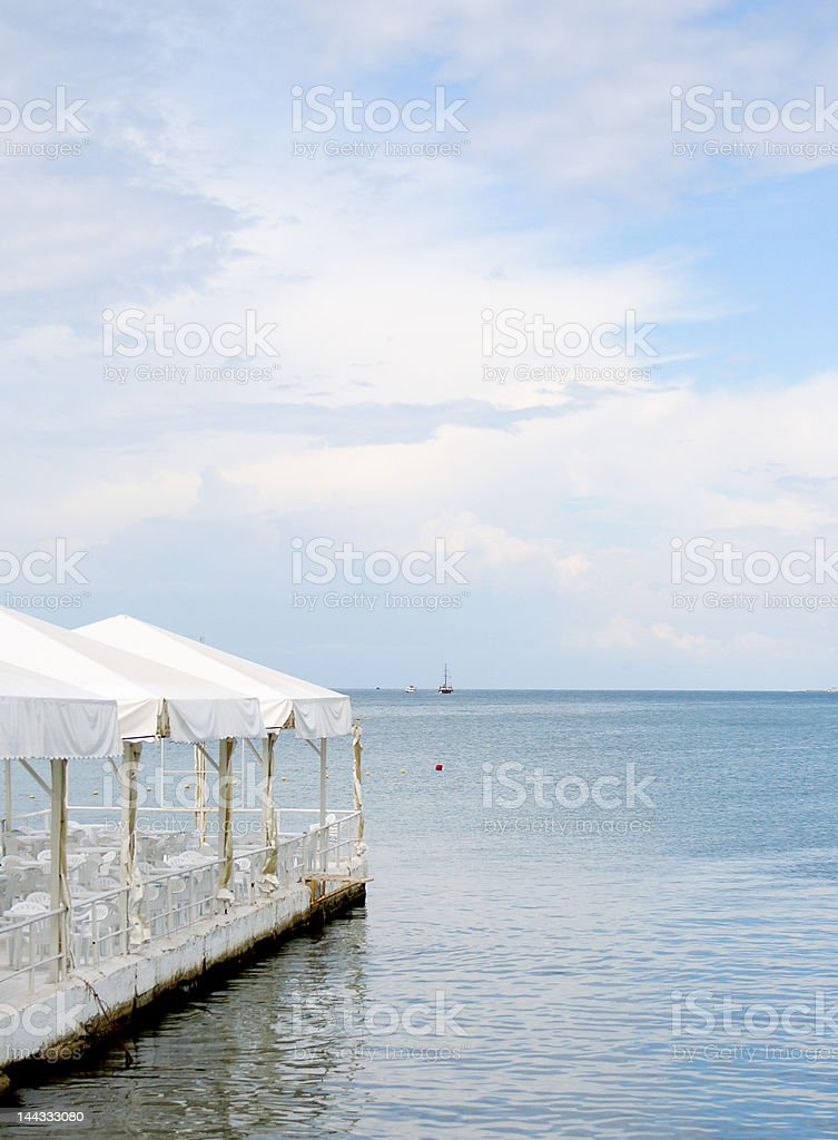Coastal cafe royalty-free stock photo