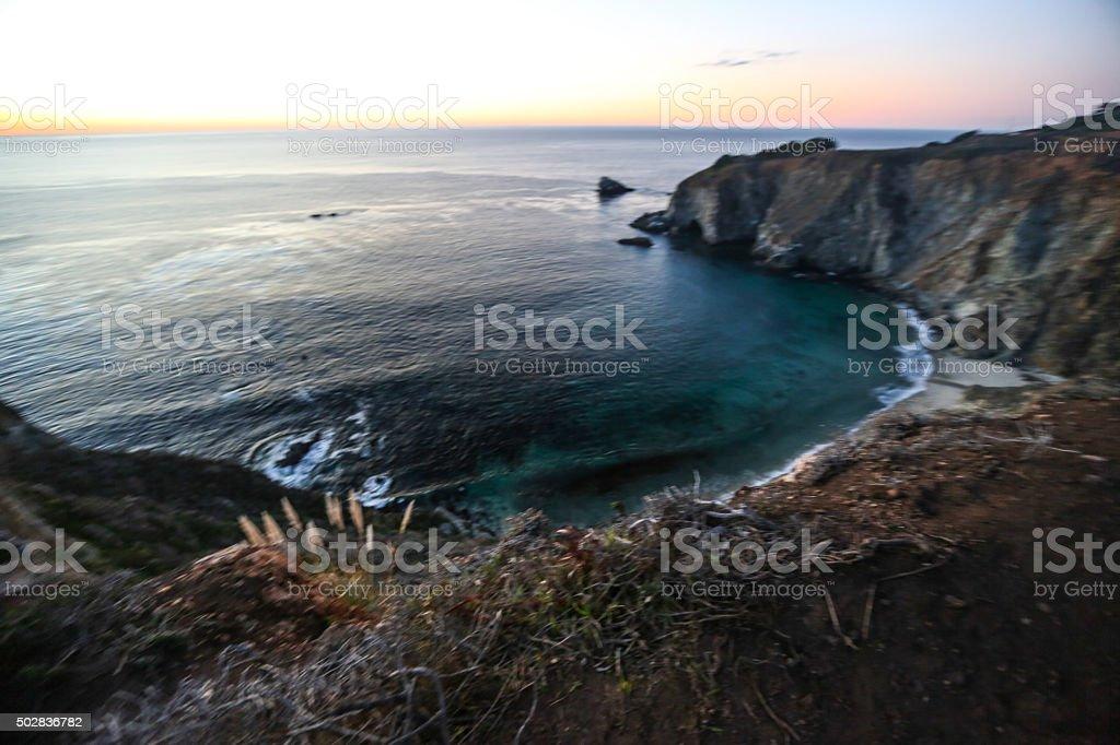 Coastal California Bixby Creek stock photo