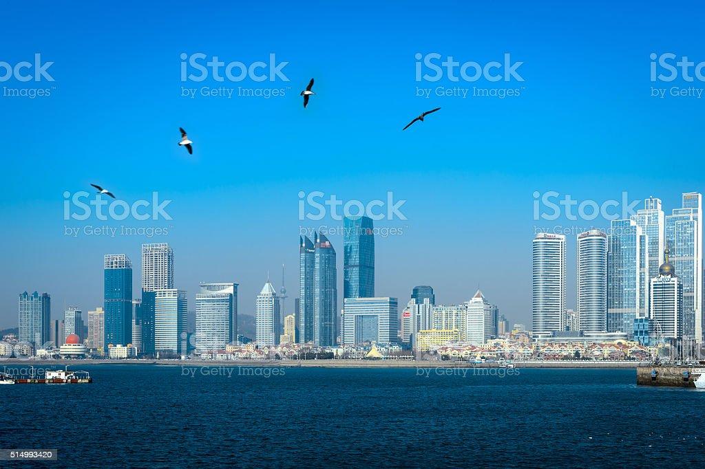 Coastal cities stock photo