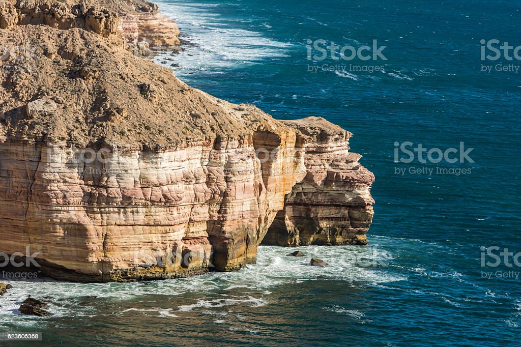 coastal cliffs island rock at western australia stock photo