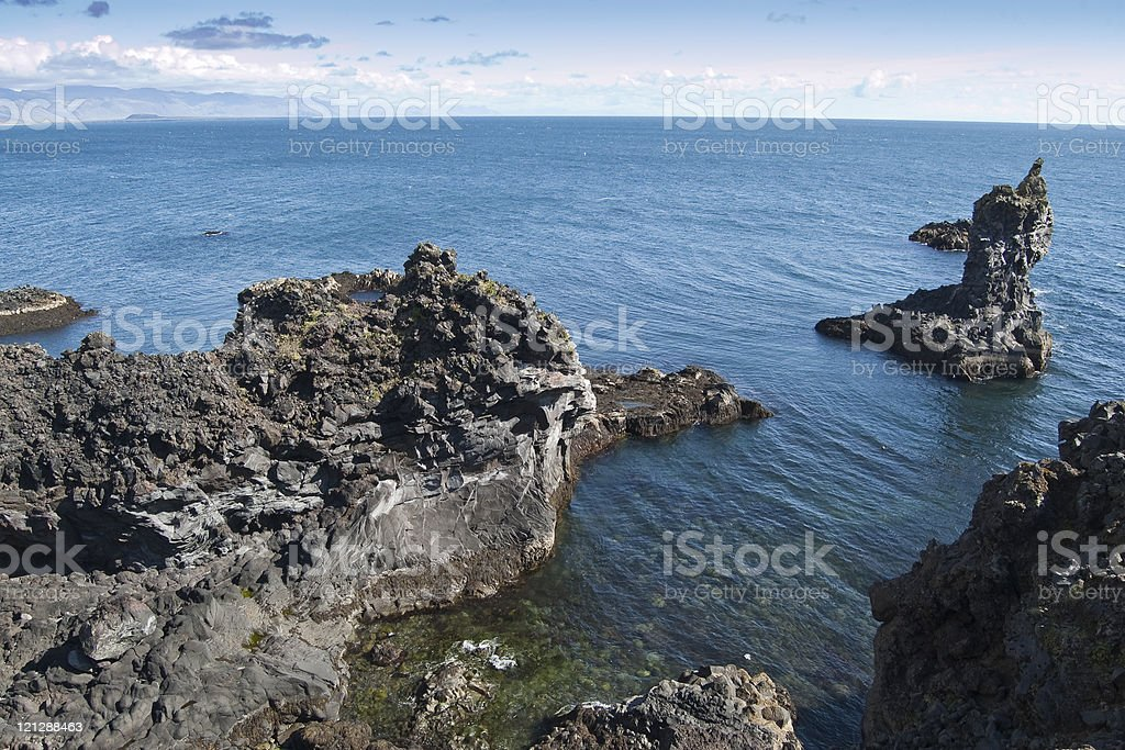 Coastal cliffs stock photo