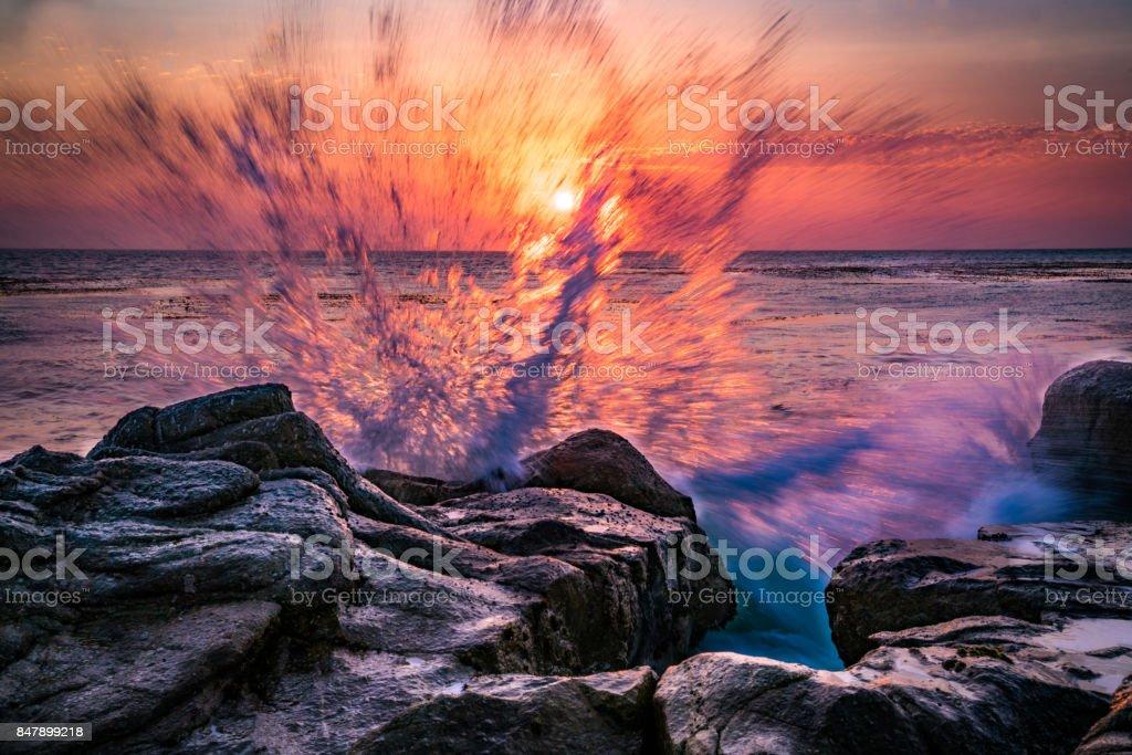 Coastal Colorsplash stock photo