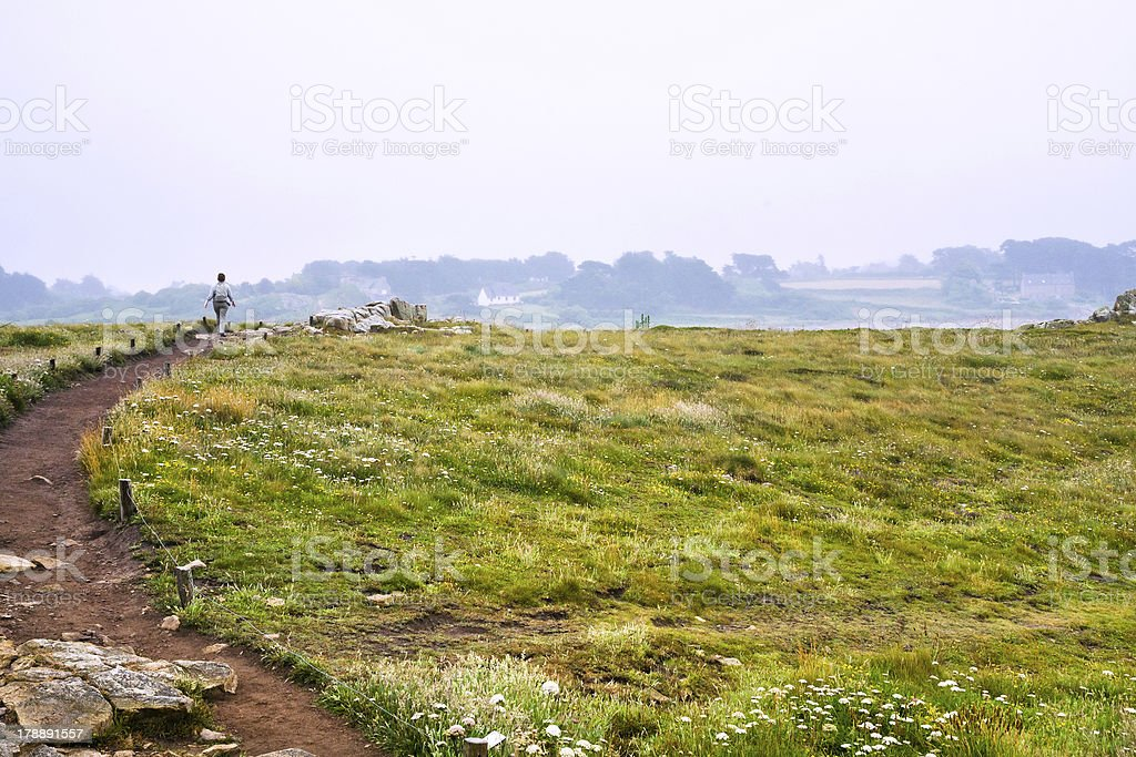 coastal country landscape of Brittany royalty-free stock photo
