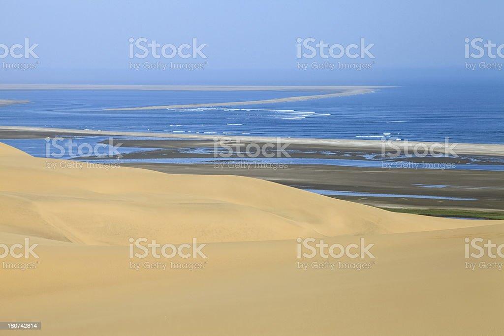 Coastal Desert Landscape, Swakopmund, Namibia, Southern Africa. stock photo