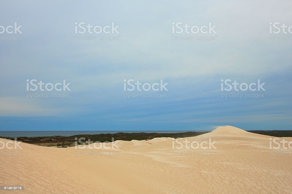 Coastal dunes in Australia stock photo