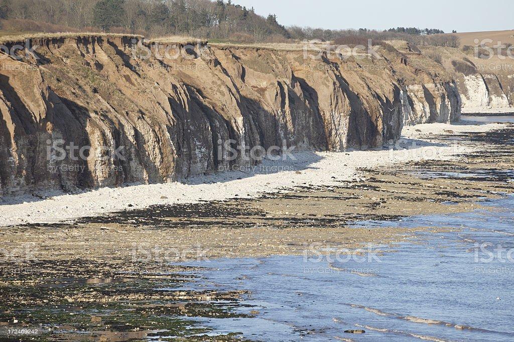 Coastal Erosion at Flamborough Head stock photo
