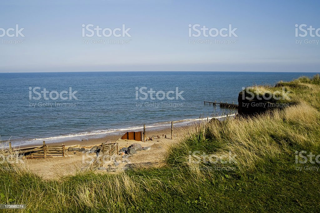 Coastal erosion royalty-free stock photo