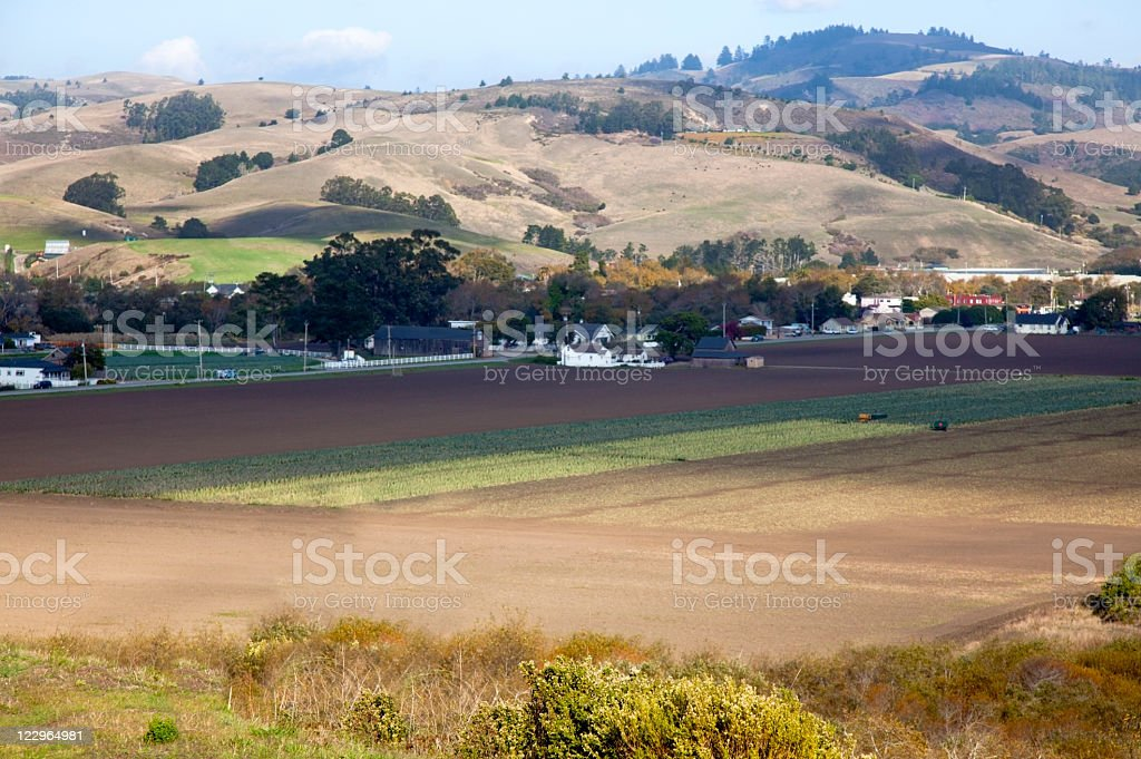 Coastal Farm stock photo