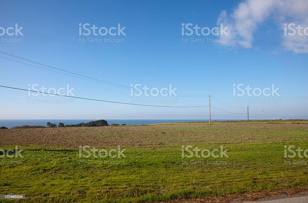 Coastal Farmland stock photo