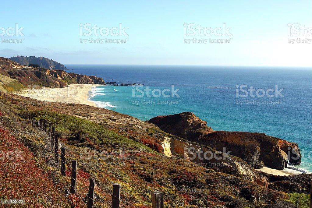Coastal Fence stock photo