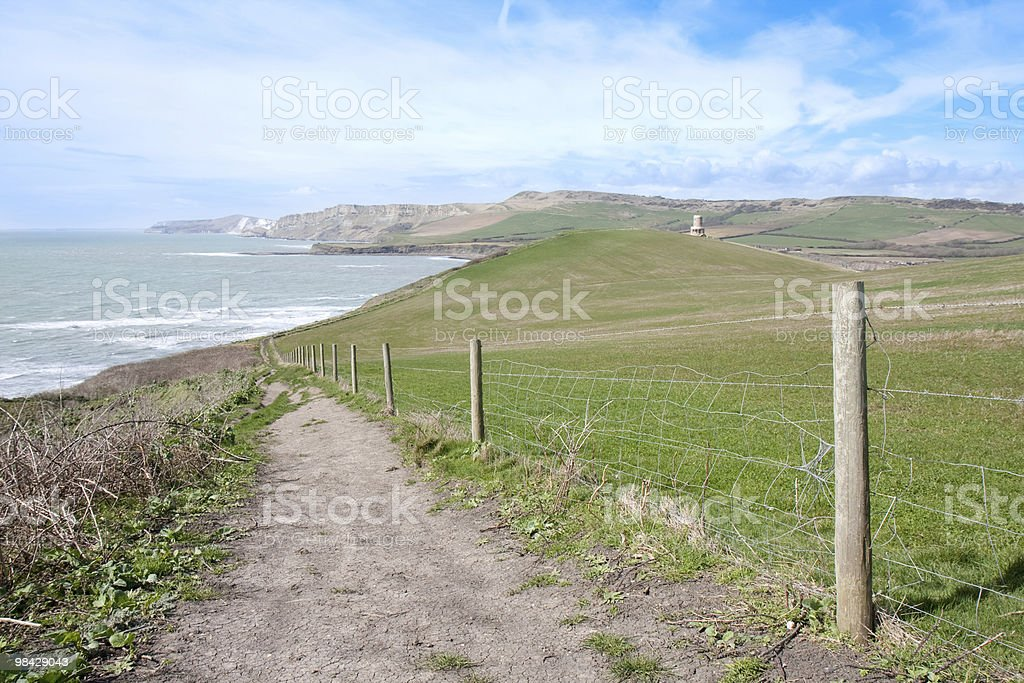 Coastal Footpath in the Spring royalty-free stock photo