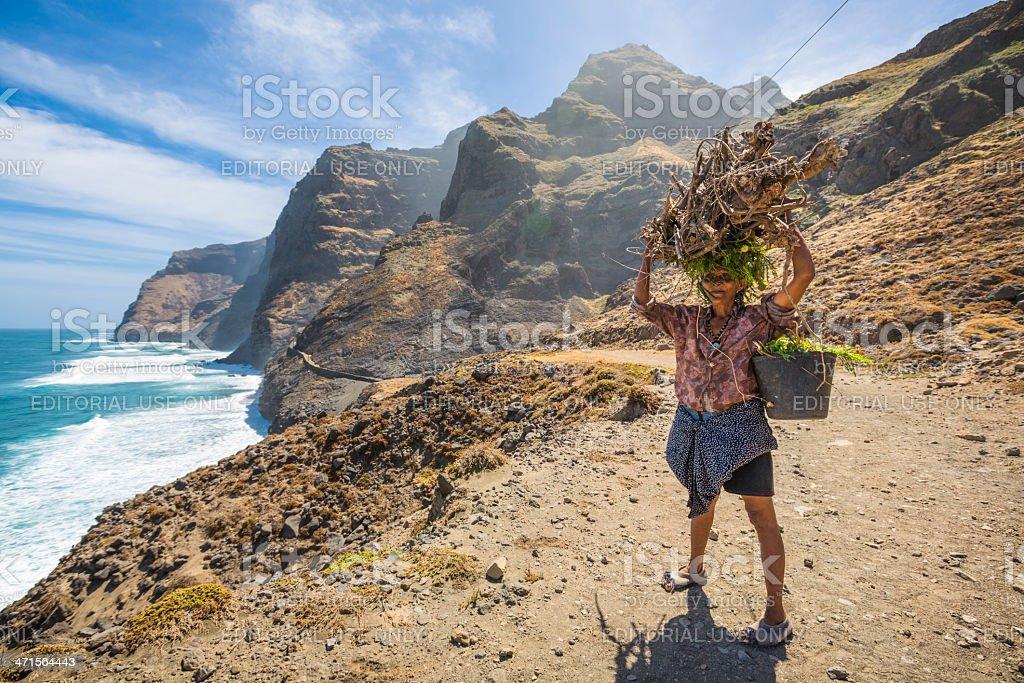 Coastal footpath of Cruzinha to Ponta Do Sol stock photo