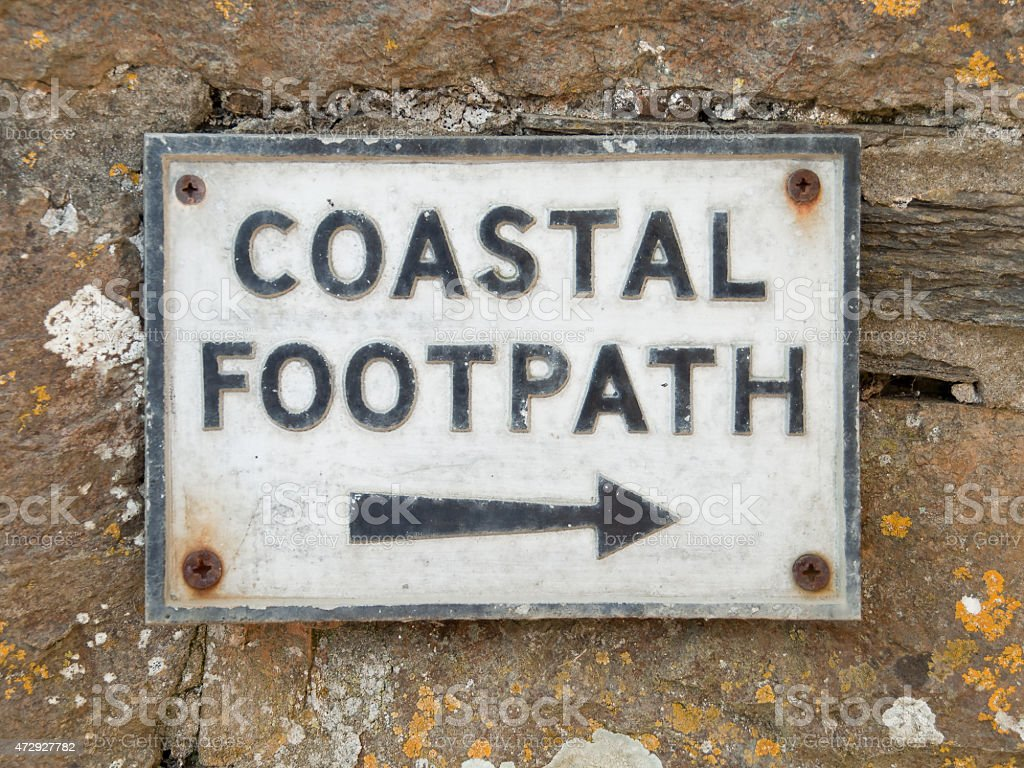 Coastal Footpath stock photo