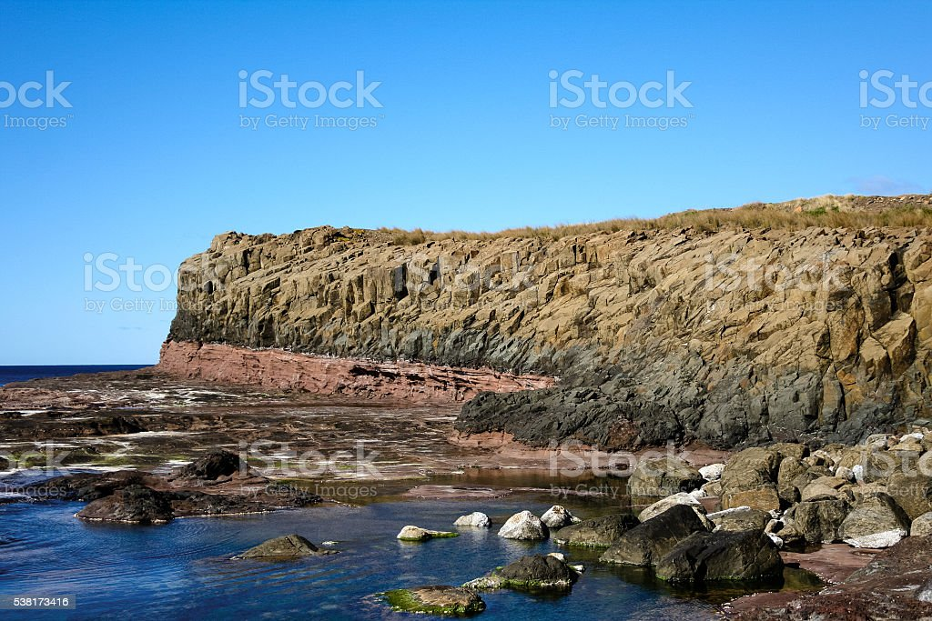 Coastal headland at Kiama Australia stock photo