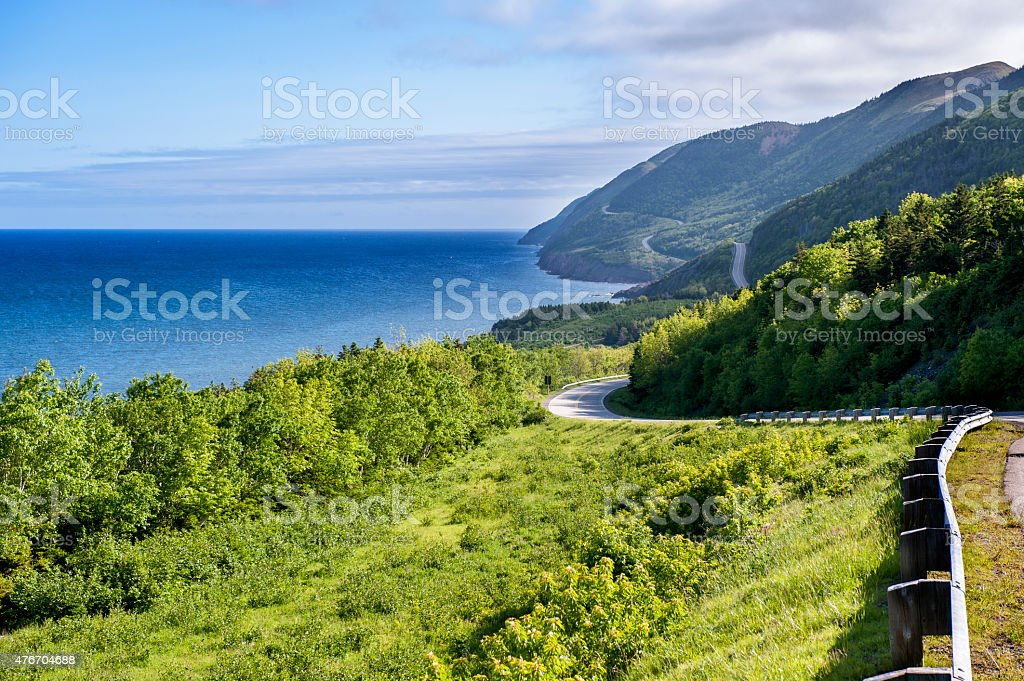 Coastal Highway stock photo
