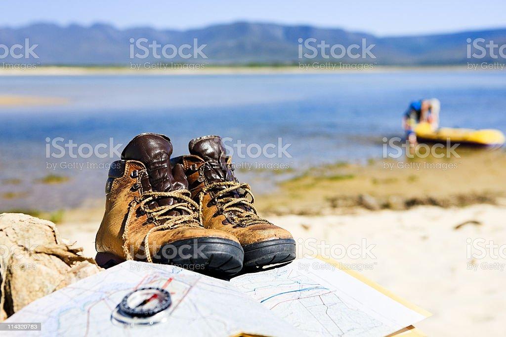 Coastal hiking royalty-free stock photo