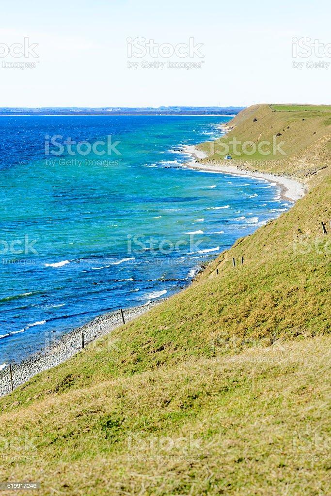 Coastal hills stock photo