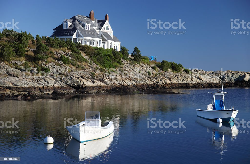 Coastal Home in Newport, Rhode Island stock photo