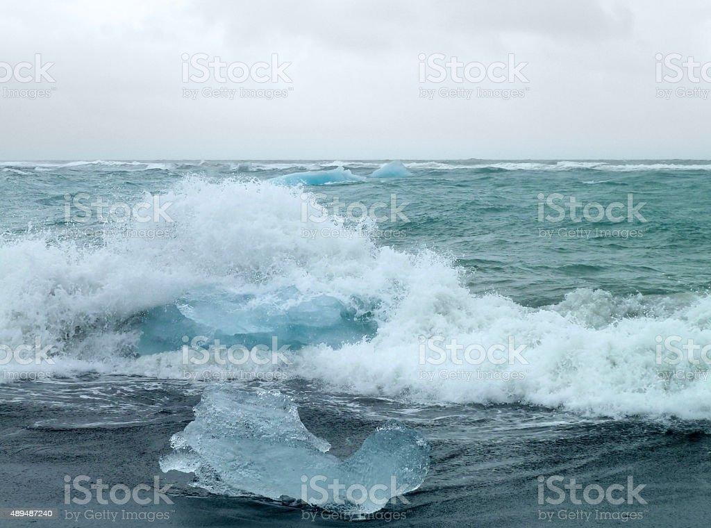 coastal iceberg scenery stock photo