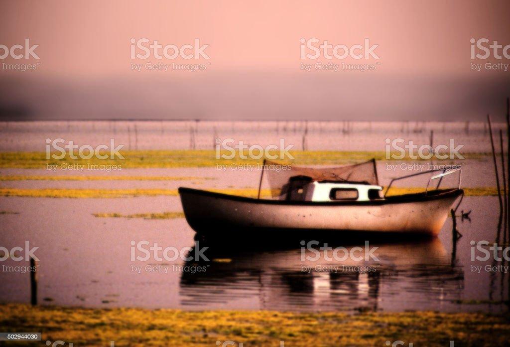 coastal lagoon stock photo