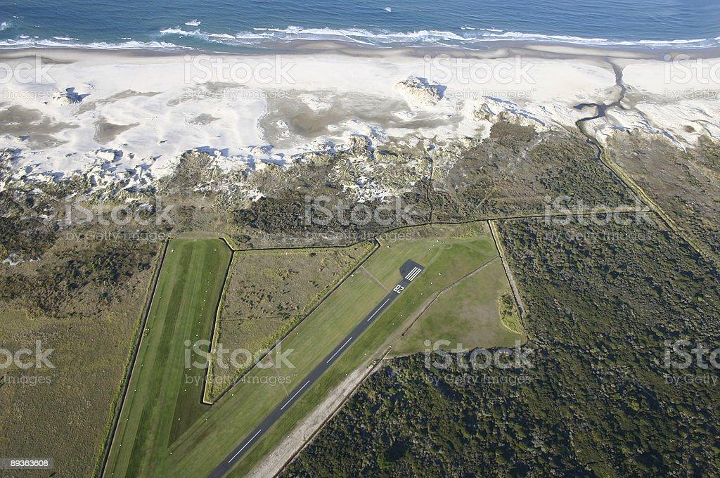 Coastal landing strip royalty-free stock photo