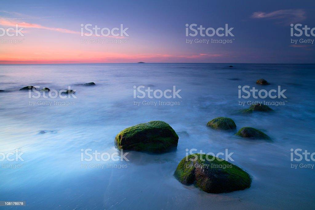 Coastal Landscape after Sunset royalty-free stock photo