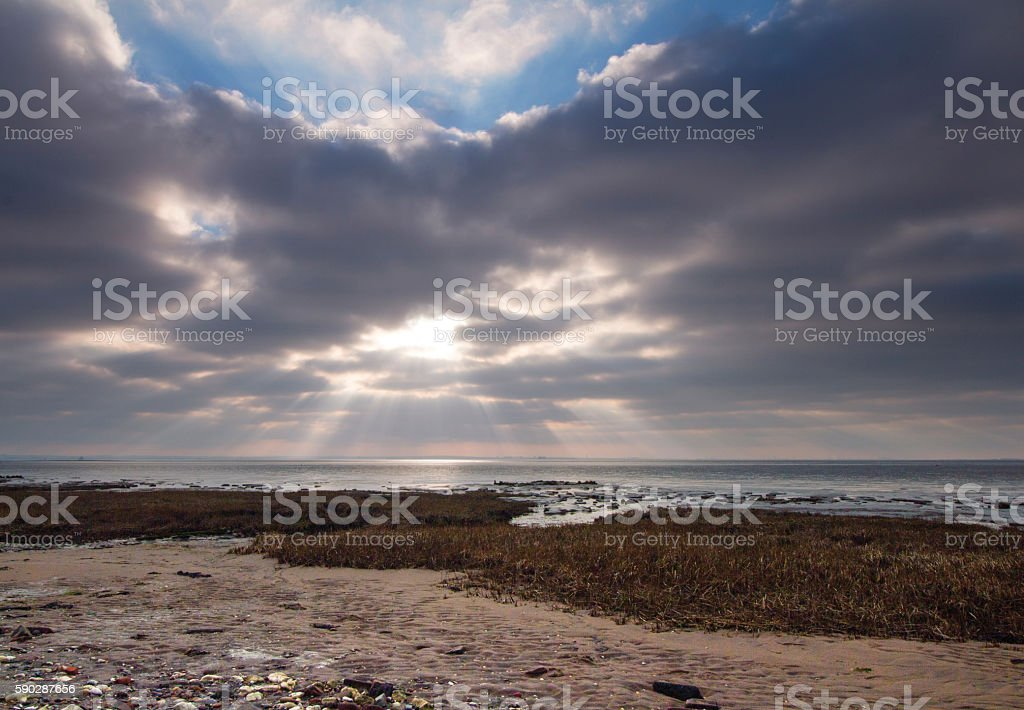 Coastal landscape at Spurn Point, East Yorkshire stock photo