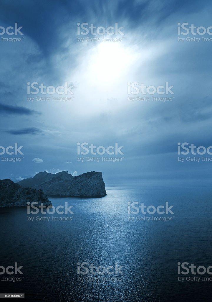 Coastal Landscape at Sunset royalty-free stock photo