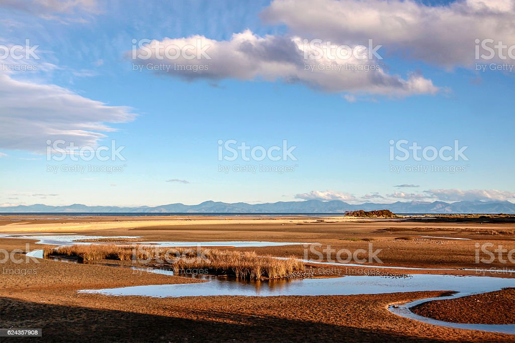 Coastal landscape in the Abel Tasman National Park stock photo