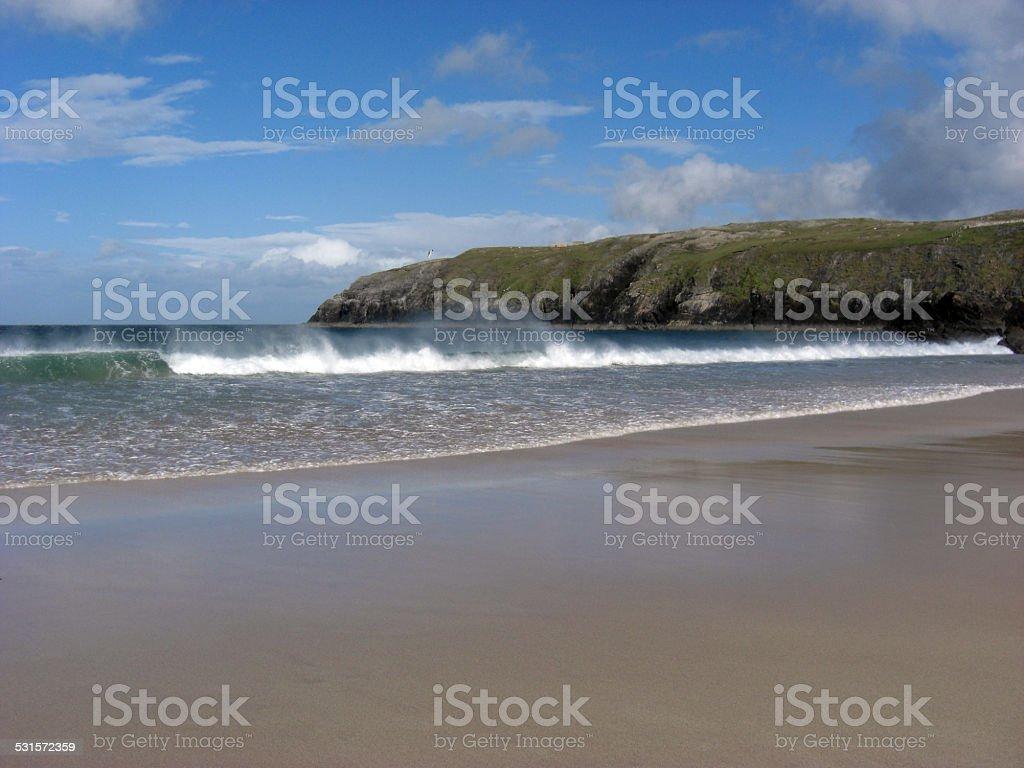 Coastal landscape in the Scottish North stock photo