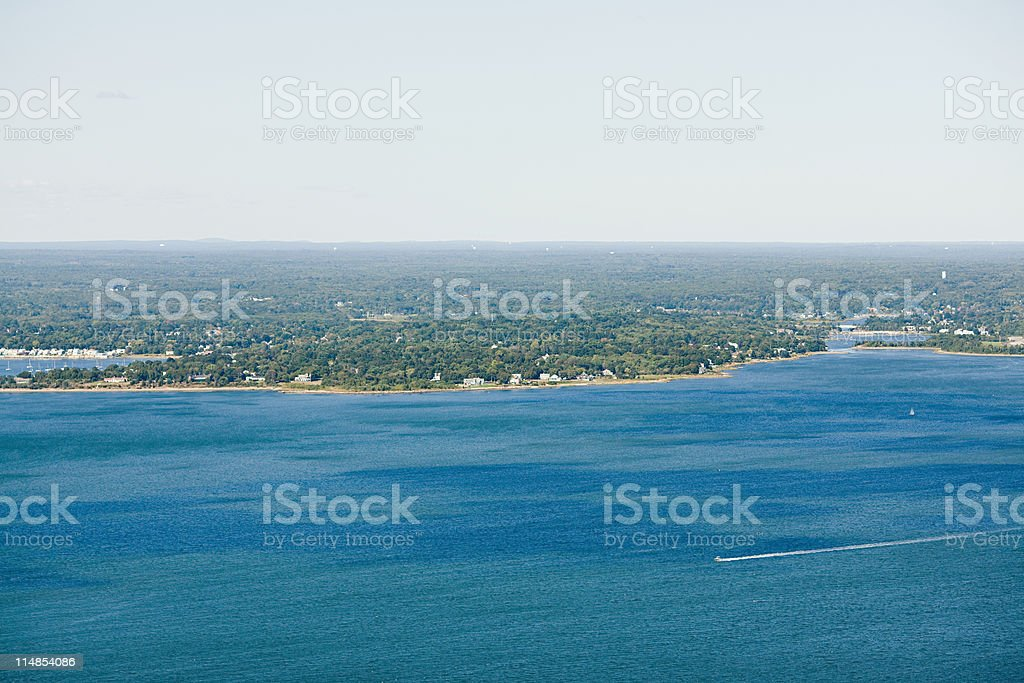 Coastal landscape, Newport County, Rhode Island, USA stock photo