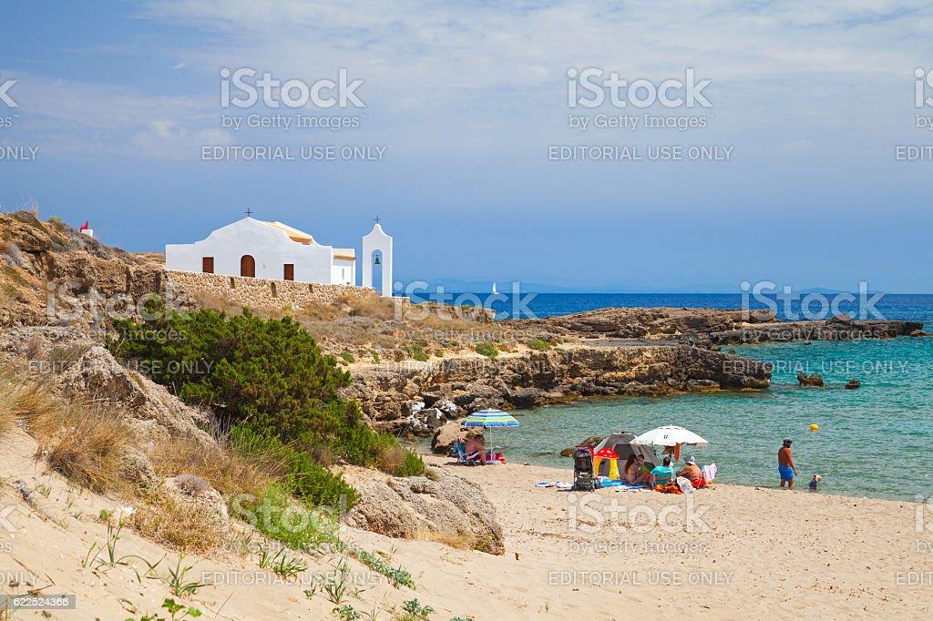 Coastal landscape of Zakynthos island stock photo