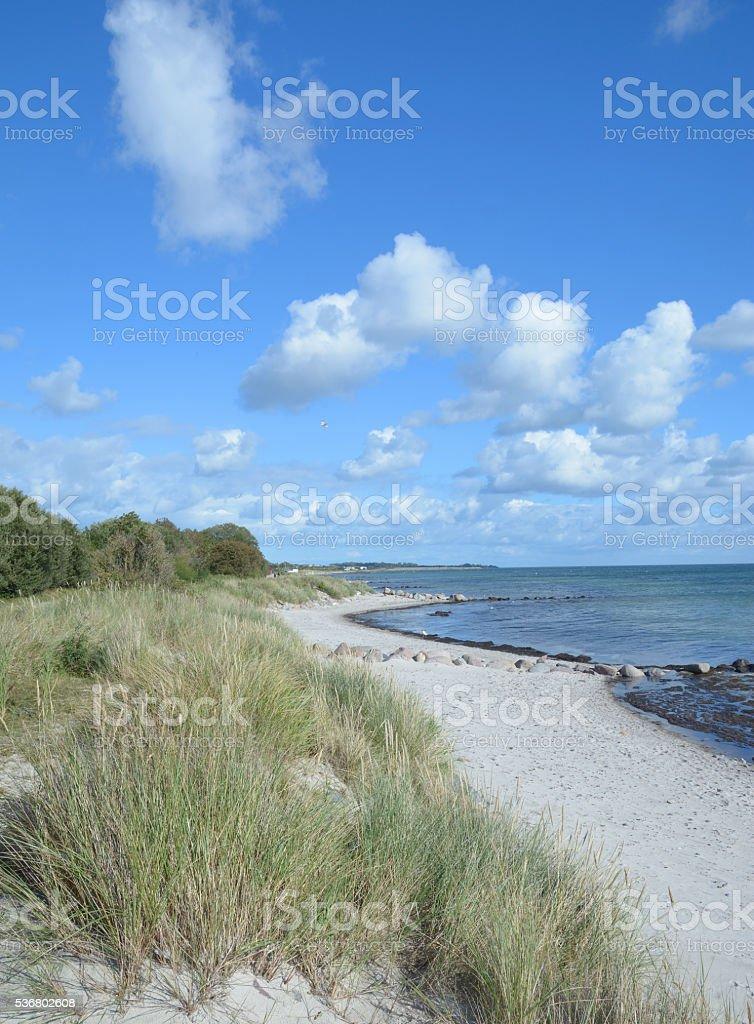 Coastal Landscape,Fehmarn,baltic Sea,Germany stock photo