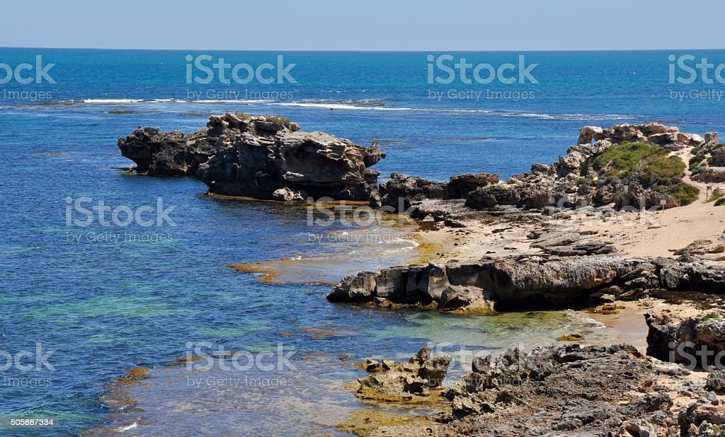 Coastal Limestone Outcroppings stock photo