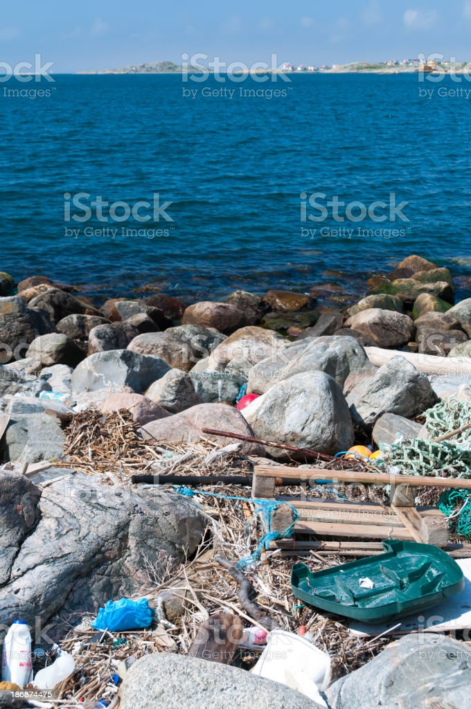 Coastal litter royalty-free stock photo