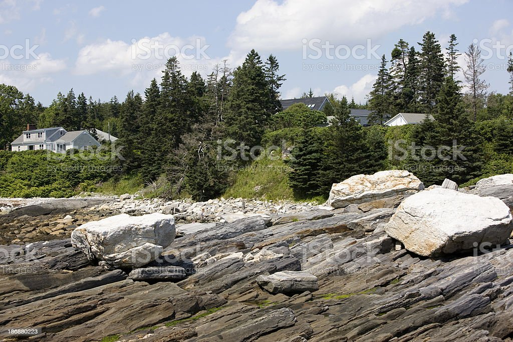 Coastal living (Bristol, Maine, USA) stock photo