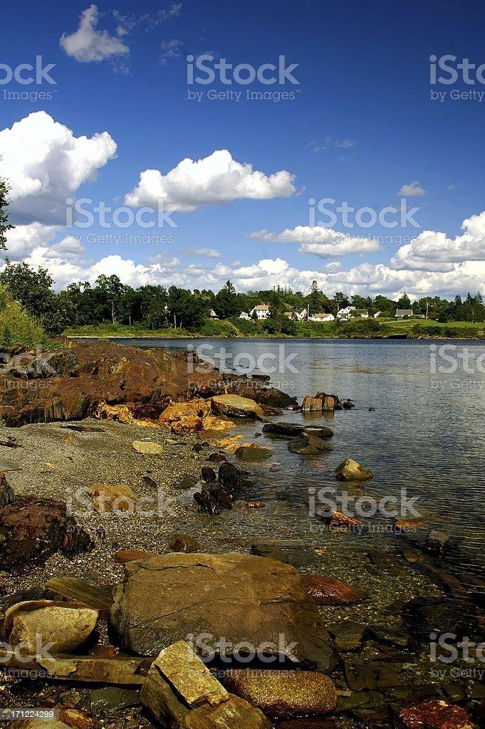 Coastal Maine stock photo