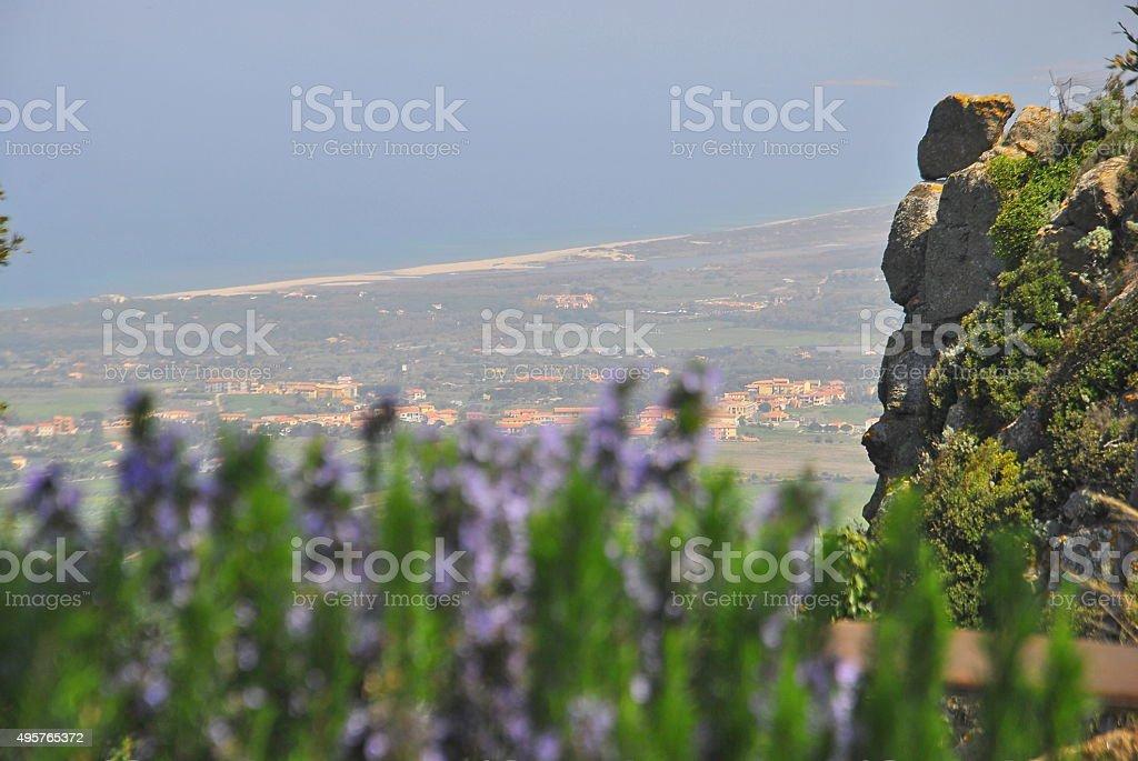 Panorama marittimo costiero stock photo