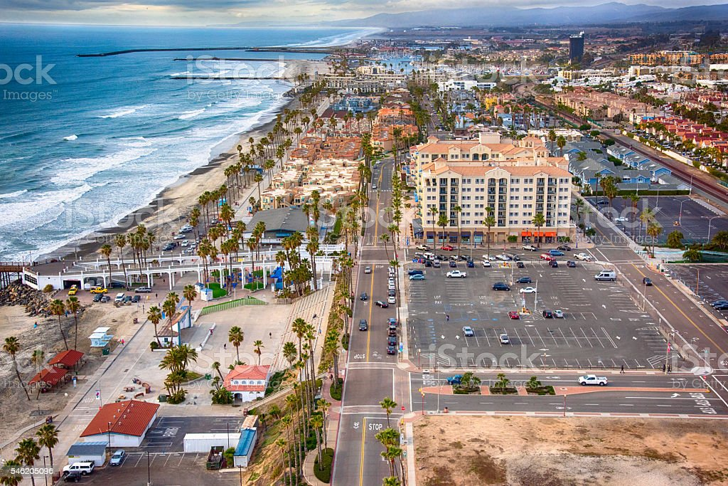 Coastal Oceanside California From Above stock photo