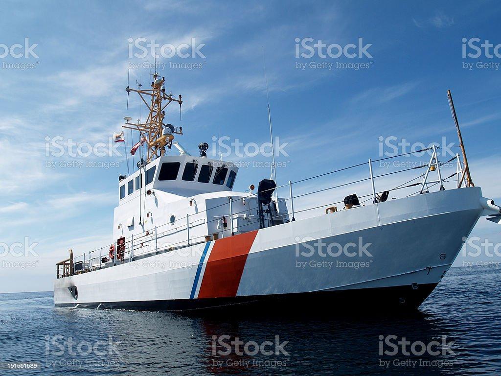 Coastal Patrol Boat royalty-free stock photo