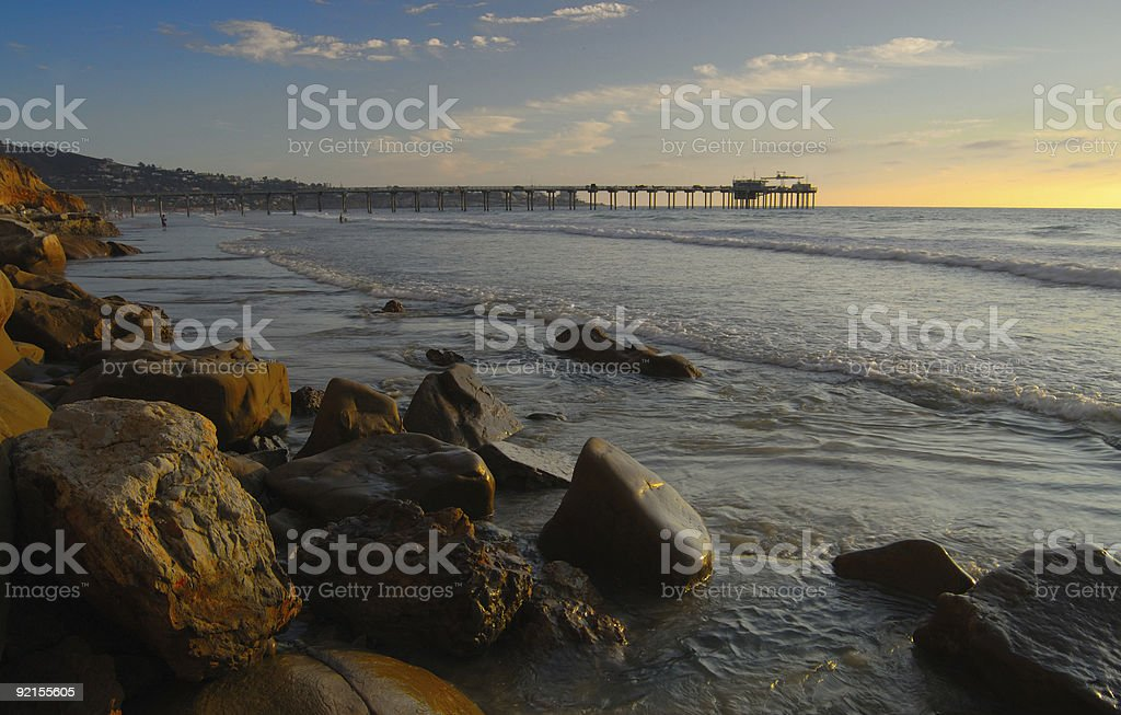 Coastal Pier royalty-free stock photo