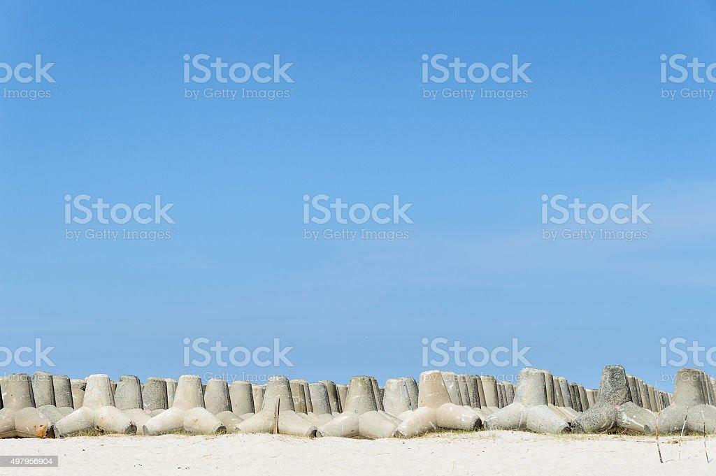 Coastal Protection Tetrapoden stock photo