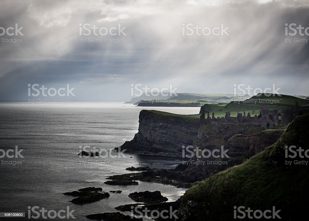 Coastal Rain stock photo