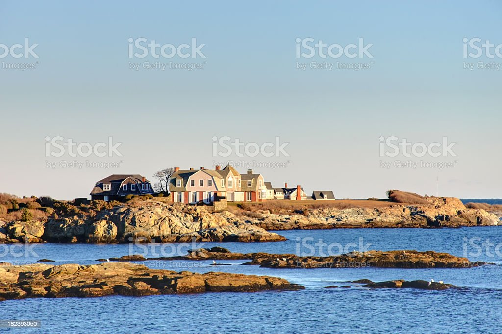 Coastal Rhode Island stock photo