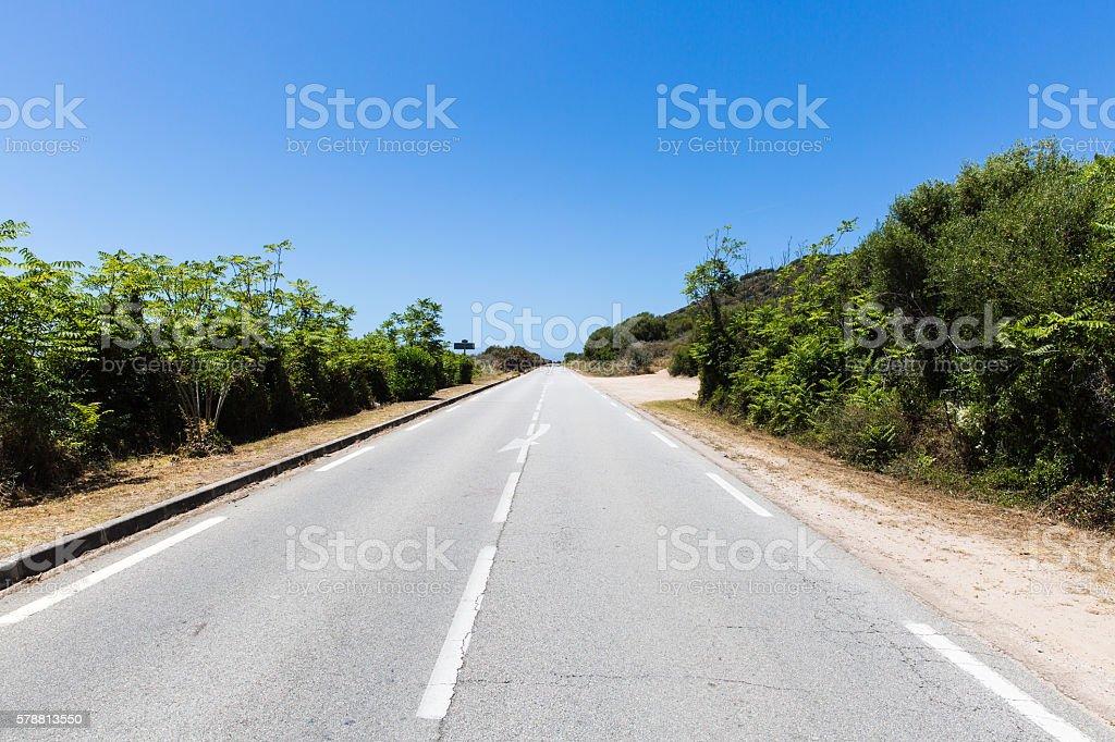 coastal road of corsica stock photo