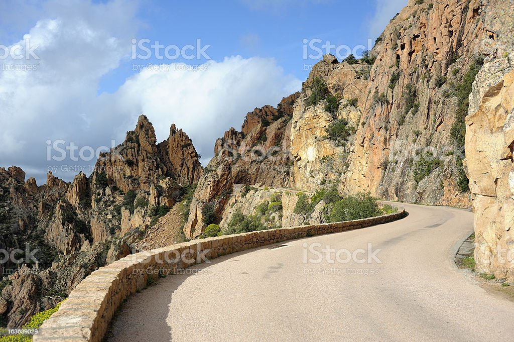 Coastal Road on the Island of Corsica royalty-free stock photo